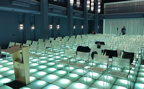 "Amazing room for Tim Jackson's presentation at ""Haus des Bevollmächtigten der EKD"" in Berlin"