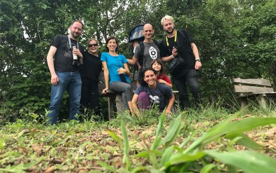 Going on a hike in Costa Rica with a few friends, our protagonist Katherine is the second from the left