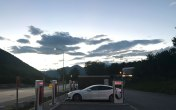 Late night charge on the way back over the Alps (Switzerland)