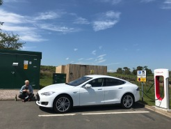 Nick and trusty Tez, at the Tebay Supercharger in the UK