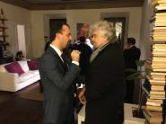 Lorenzo and 5 Stars founder Beppe Grillo.