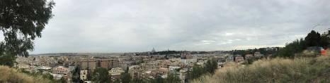 Rome skyline.