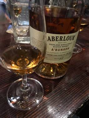 Aberlour, whisky #4 on the Dramble Tour.