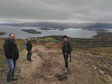 Men on a mission: Martin, Mark (Katherine's husband) and Nick